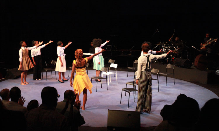 The production brought together a cast of South African actors who portrayed Maya Angelou's struggle, liberation, and life in vivid spoken word, song and dance.