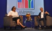 Ambassador Gaspard hosts Oprah Winfrey at our #BigDREAMS young women's empowerment event