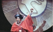 Winnie Mandela, as she was honored with 1990 Essence Award at Radio City Music Hall Friday, Oct. 20, 1990 in New York. The fourth annual celebration, sponsored by Essence Magazine, was to honor six outstanding African-American women of entertainment. (AP Photo/Ron Frehm)