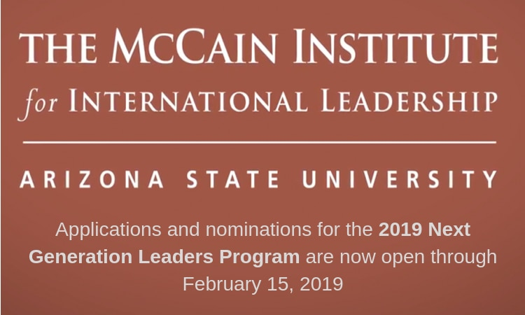 Applications and nominations for the 2019 Next Generation Leaders Program