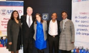 Nazrene Mannie, Fund Manager: Beyond Advocacy Fund, John Groarke USAID Mission Director, Jessye Lapenn Chargé d'Affaires US Embassy South Africa Bonang Mohale, CEO of Business Leadership South Africa (BLSA) Busisiwe Mavuso, COO of Business Leadership South Africa (BLSA)