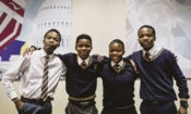 The four Mamelodi High School students who completed a three-week youth leadership exchange program in the United States of America