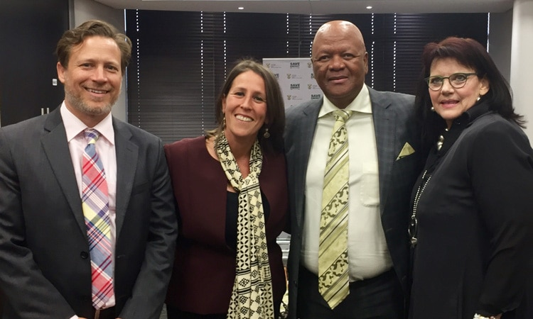 Chargé d'Affaires Jessye Lapenn and Power Africa Coordinator Andy Herscowitz joined Minister of Energy Jeff Radebe and Head of the Independent Power Projects Karen Breytenbach as they make renewable energy history in South Africa
